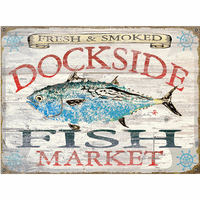 Fish Market Albacore Personalized Signs