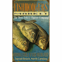 Fish Mongers Personalized Signs