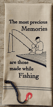 Fishing Memories Embroidered Dishtowels - Set of 6