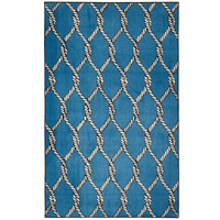 Fishing Net Blue Rug - 5 x 8