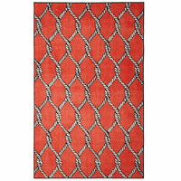 Fishing Net Red Rug Collection