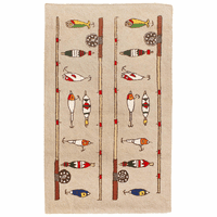 Fishing Rod and Lures Rug - 2 x 4