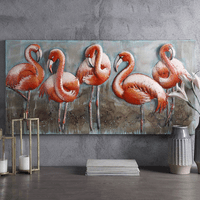 Five Flamingos 3-D Wall Art
