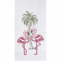 Flamingo Beach Flour Sack Towels - Set of 6