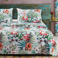Flamingo Cove 3 Piece Quilt Set - Full/Queen - OVERSTOCK