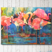 Flamingo Fiesta Canvas Art