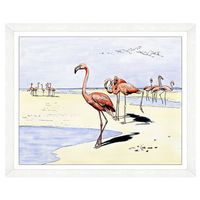 Flamingo Flock Wall Art