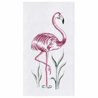 Flamingo Flour Sack Kitchen Towels - Set of 12