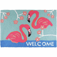 Flamingo Greeting Indoor/Outdoor Rug