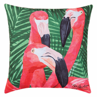 Flamingo Palms HD Indoor/Outdoor Pillow