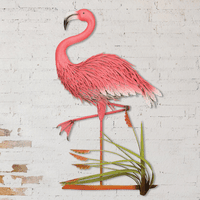 Flamingo Stance Indoor/Outdoor Wall Art