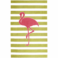 Flamingo Stripes Rug - 5 x 8