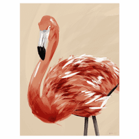 Flamingo Tropicale Canvas Art