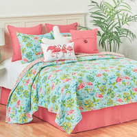 Flamingo Tropics Quilt Set - Twin