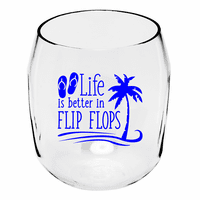 Flip Flop Life Wine Tumblers - Set of 4