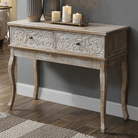 Flora Carved Console Table
