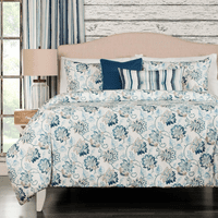 Floral Paradise 6 Piece Duvet Set - Queen