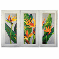 Floridian Blooms Framed Art - Set of 3