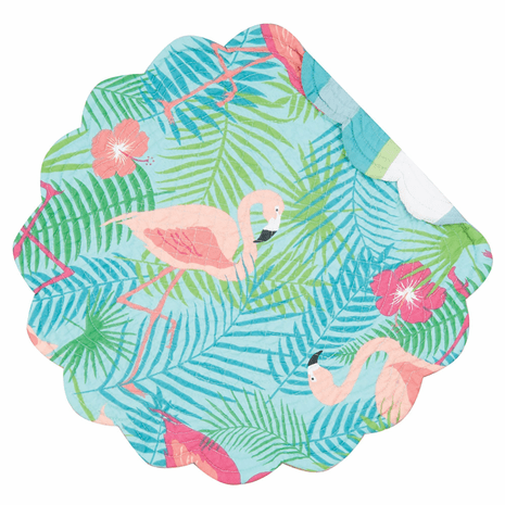 Flowers & Flamingos Round Placemats - Set of 6