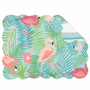 Flowers & Flamingos Scalloped Placemats - Set of 6