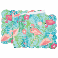 Flowers & Flamingos Table Runner