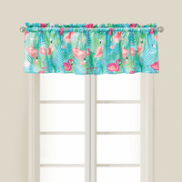 Flowers & Flamingos Valance