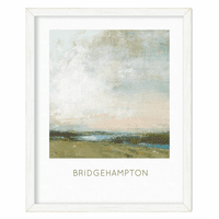 Foggy Beach Personalized Framed Poster