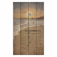 Footprints Pallet Sign