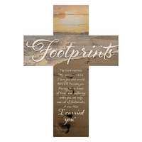 Footprints Wall Cross