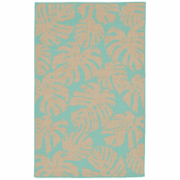 Forest Fronds Turquoise Indoor/Outdoor Rug Collection