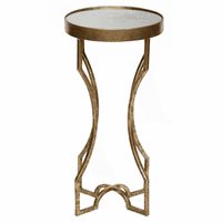 Four-Legged Accent Table with an Antiqued Mirror Top - Gold