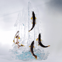 Four Salmon Upstream Figurine