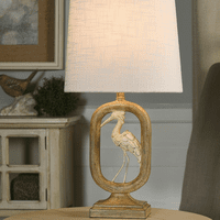 Framed Crane Table Lamp