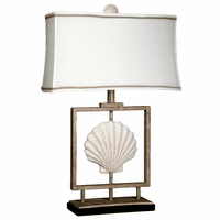 Framed Sandstone Shell Table Lamp