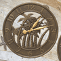 French Bronze Palm Indoor & Outdoor Wall Clock