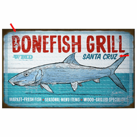 Fresh Fish Market Personalized Sign