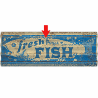 Fresh Fish Personalized Corrugated Metal Sign