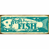 Fresh Fish Personalized Signs