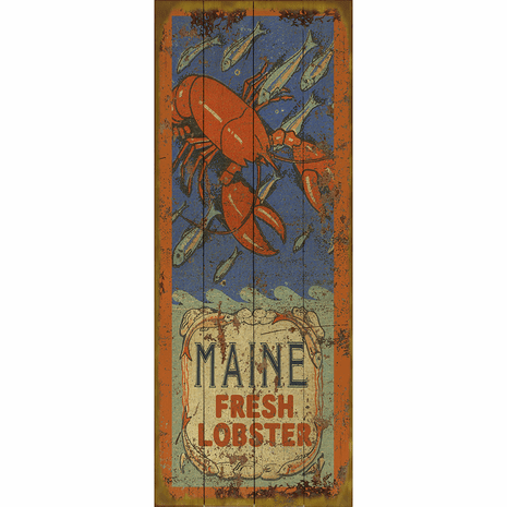 Fresh Lobster Personalized Sign - 14 x 36