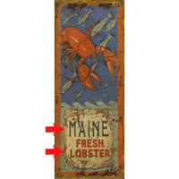 Fresh Lobster Personalized Signs