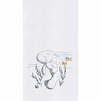 Friendly Manatee Flour Sack Towels - Set of 6