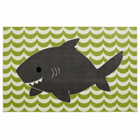 Friendly Shark Rug - 5 x 8