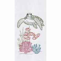 Friendly Turtle Flour Sack Towels - Set of 6
