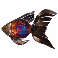 Fringed Fin Copper Dripped Fish - Set of 3