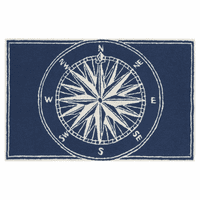 Frontporch Compass Navy Rug Collection