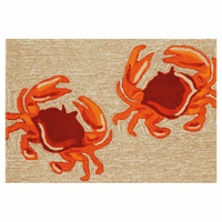 Frontporch Crabs Natural Rug Collection