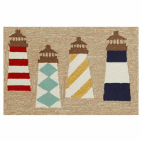 Frontporch Lighthouses Natural Rug - 3 x 4