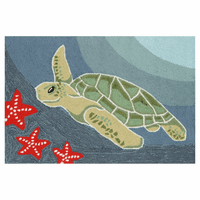 Frontporch Sea Turtle Ocean Rug Collection