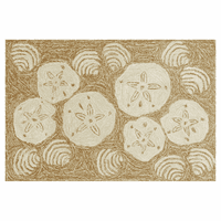 Frontporch Shell Toss Natural Rug Collection