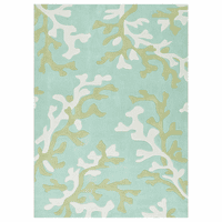 Fusion Coral Fixation Turquoise Blue Rug Collection